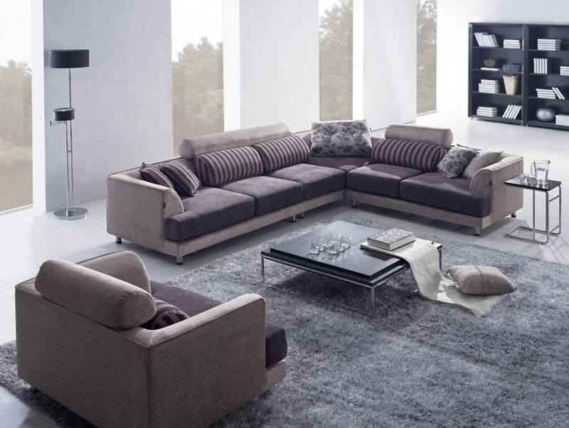 Best Modern Beige Fabric Sectional Sofa And Chair Tosh Tos 400 x 300