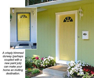 how to repair damaged molding around door | Sprucing Up an Entry ...