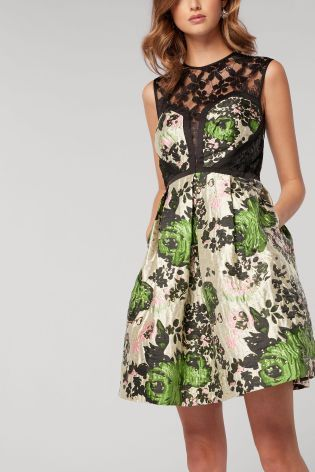 672531bb5b Buy Floral Stone Jacquard Prom Dress from the Next UK online shop ...