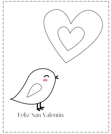 Tarjetas de San Valentín para colorear | educación | Pinterest ...