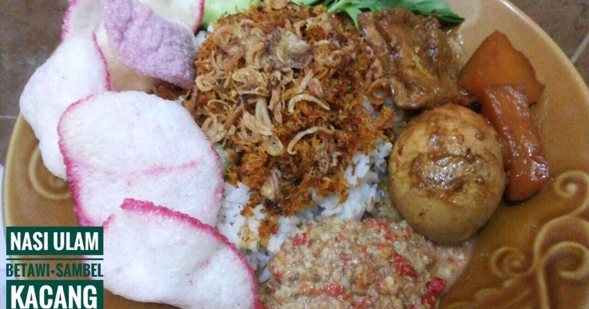 Resep Nasi Ulam Betawi Dan Sambel Kacang Oleh Mama Masak By Lisca Resep Kacang Resep Resep Makanan