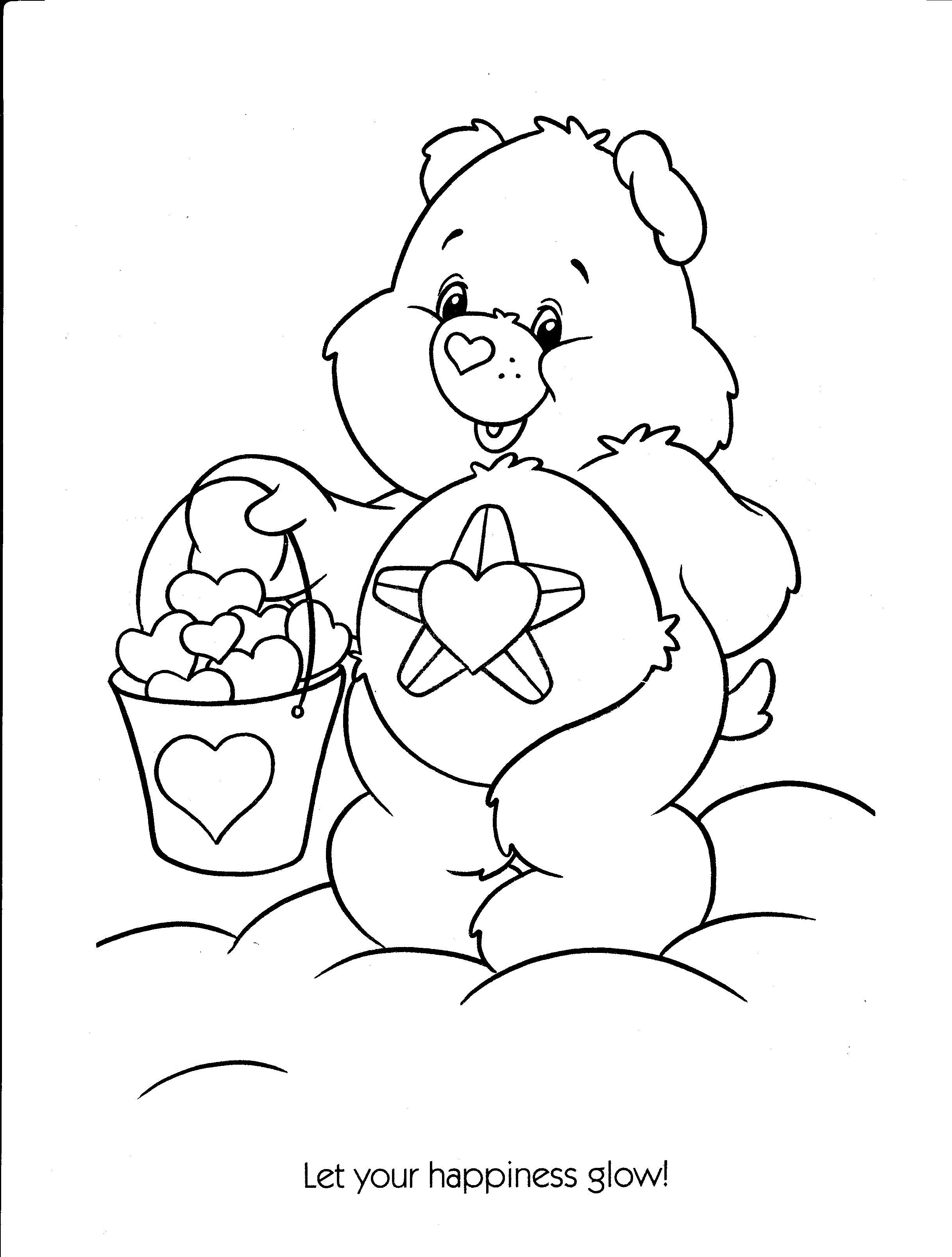 Care Bear Coloring Page Imageseldiariodelasvocesrobadas Bear