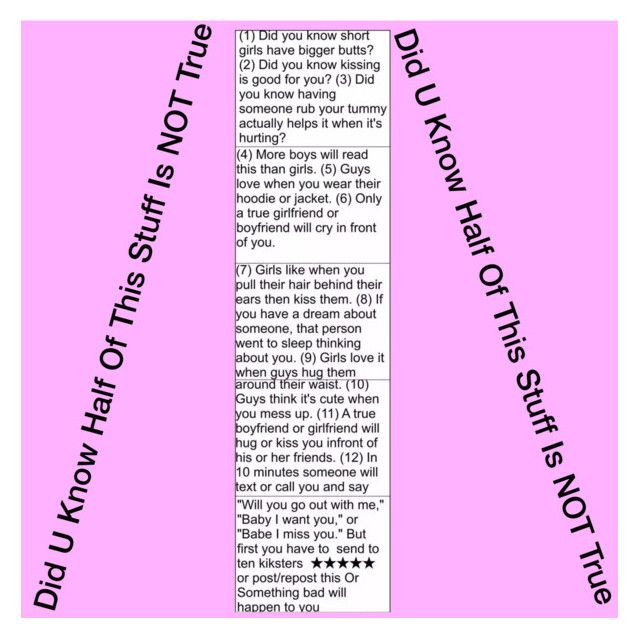 """Did U Know Half Of This Stuff Is NOT True"" by queen-peaches ❤ liked on Polyvore"