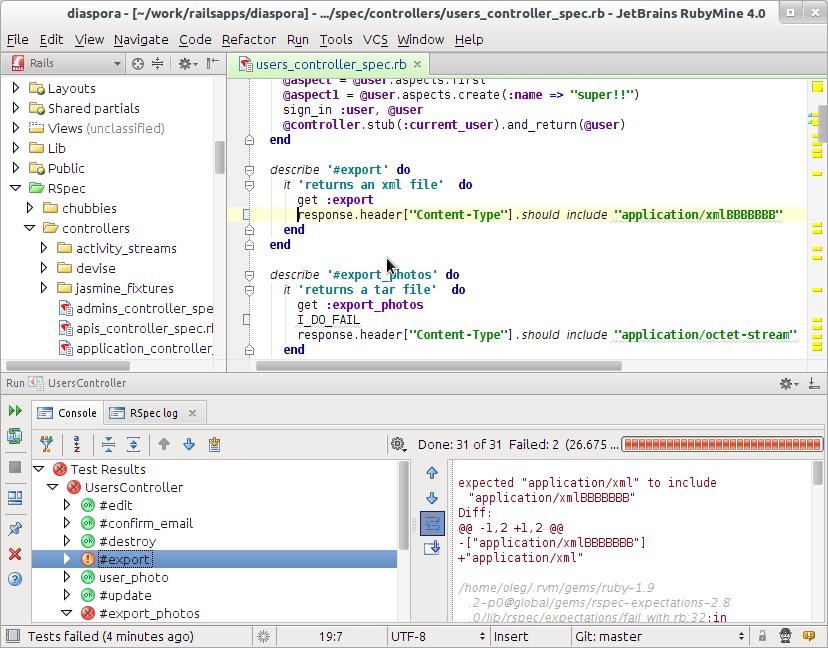 RubyMine   Apps   Ruby on rails, App