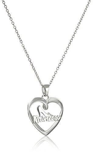 Disney sterling silver heart with princess and glass slipper pendant disney sterling silver heart with princess and glass slipper pendant necklace 18 you can aloadofball Images
