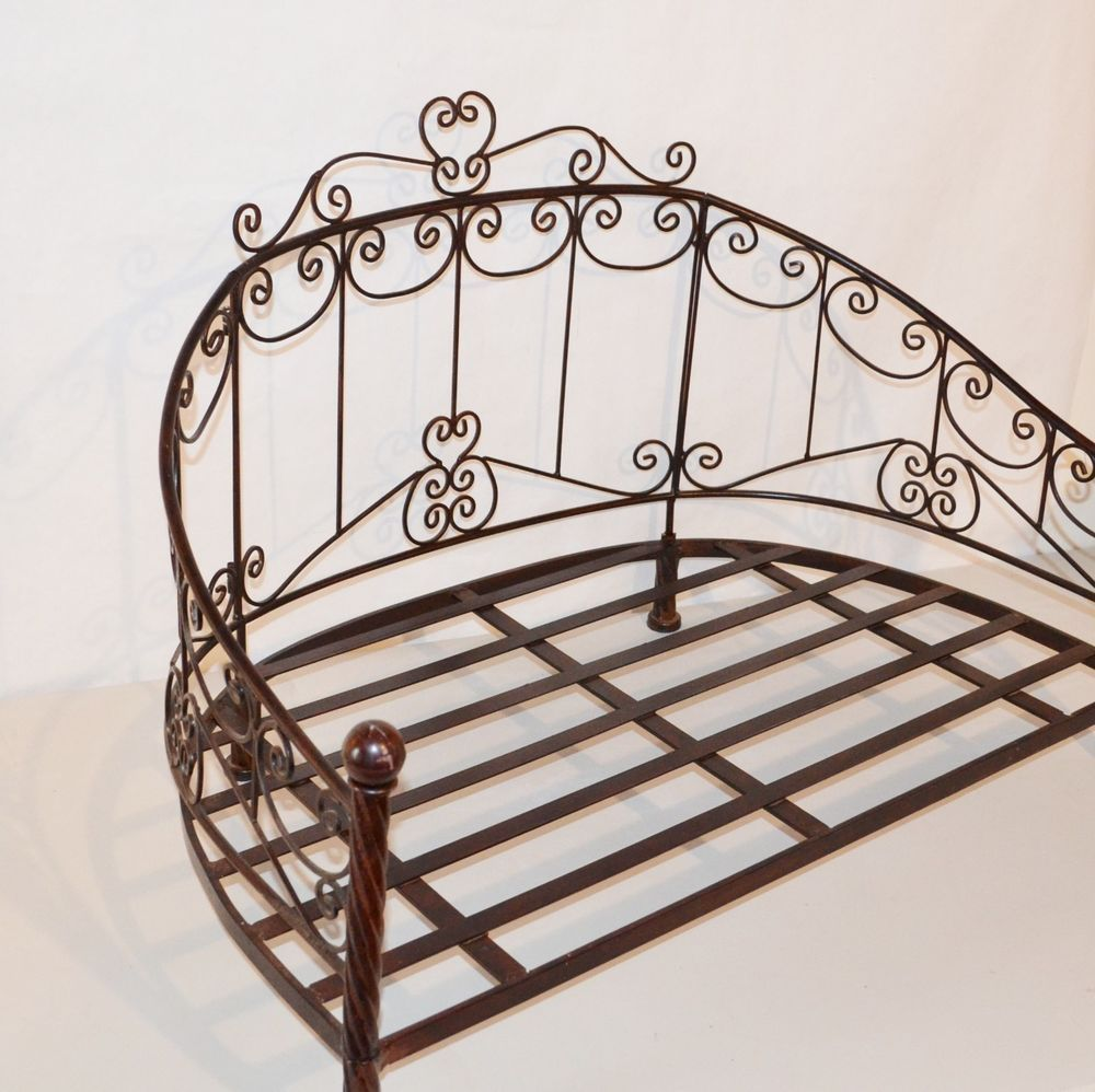 Pet Cat Dog Princess Daybed Wrought Iron Bed Large 32 Brown Metal