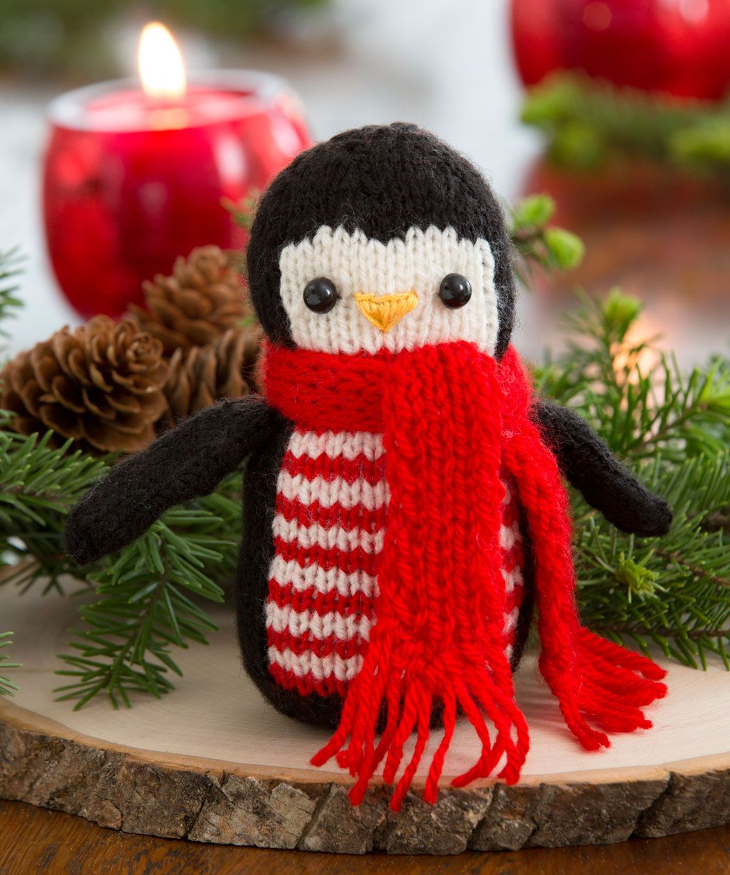 Knit this whimsical penguin to keep you company all winter long ...