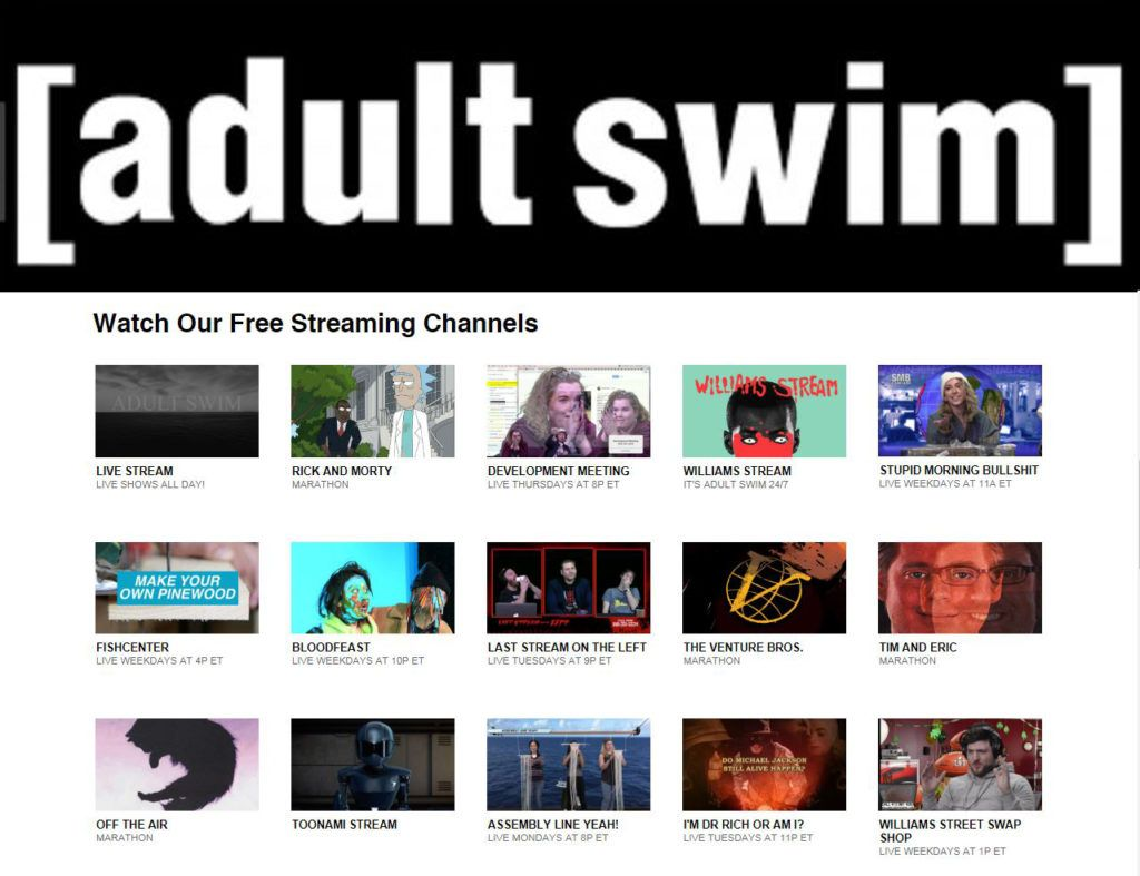 Watch adult swim free, chick nude spa