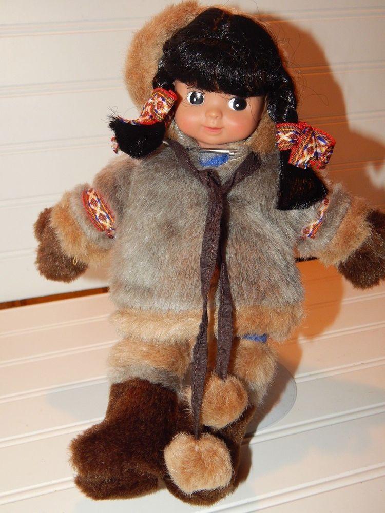 Arctic Circle Alaskan Eskimo Girl Plush Stuffed Beanbag