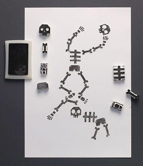 DIY Halloween tampons squelettes | Ideen