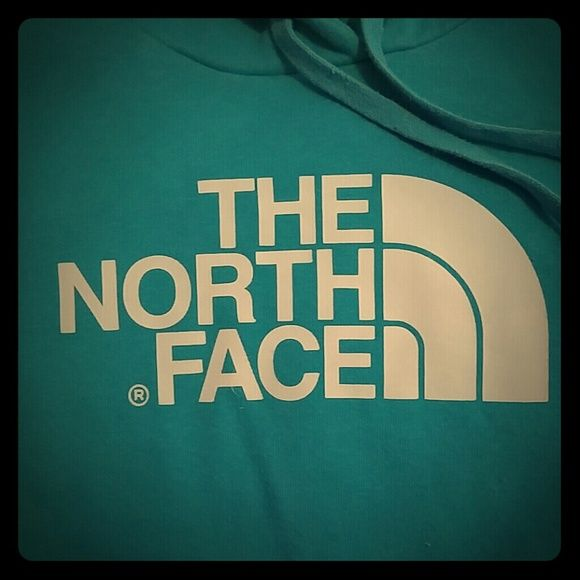 North face hoodie Great condition. The first pic shows the color better. My phone won't let the true color show. It's not as blue as the pictures seem. Its more of a teal. The North Face Tops Sweatshirts & Hoodies