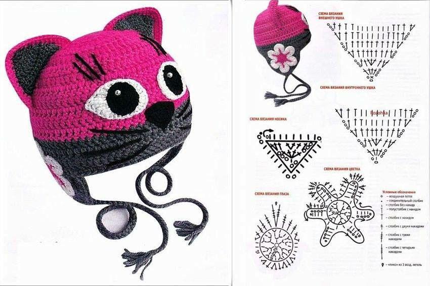 Gorro de gato | crochet | Pinterest | Croché, Gorro tejido y Ganchillo