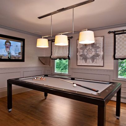 cool pool table Bar Pinterest Room, Family room and Game Room
