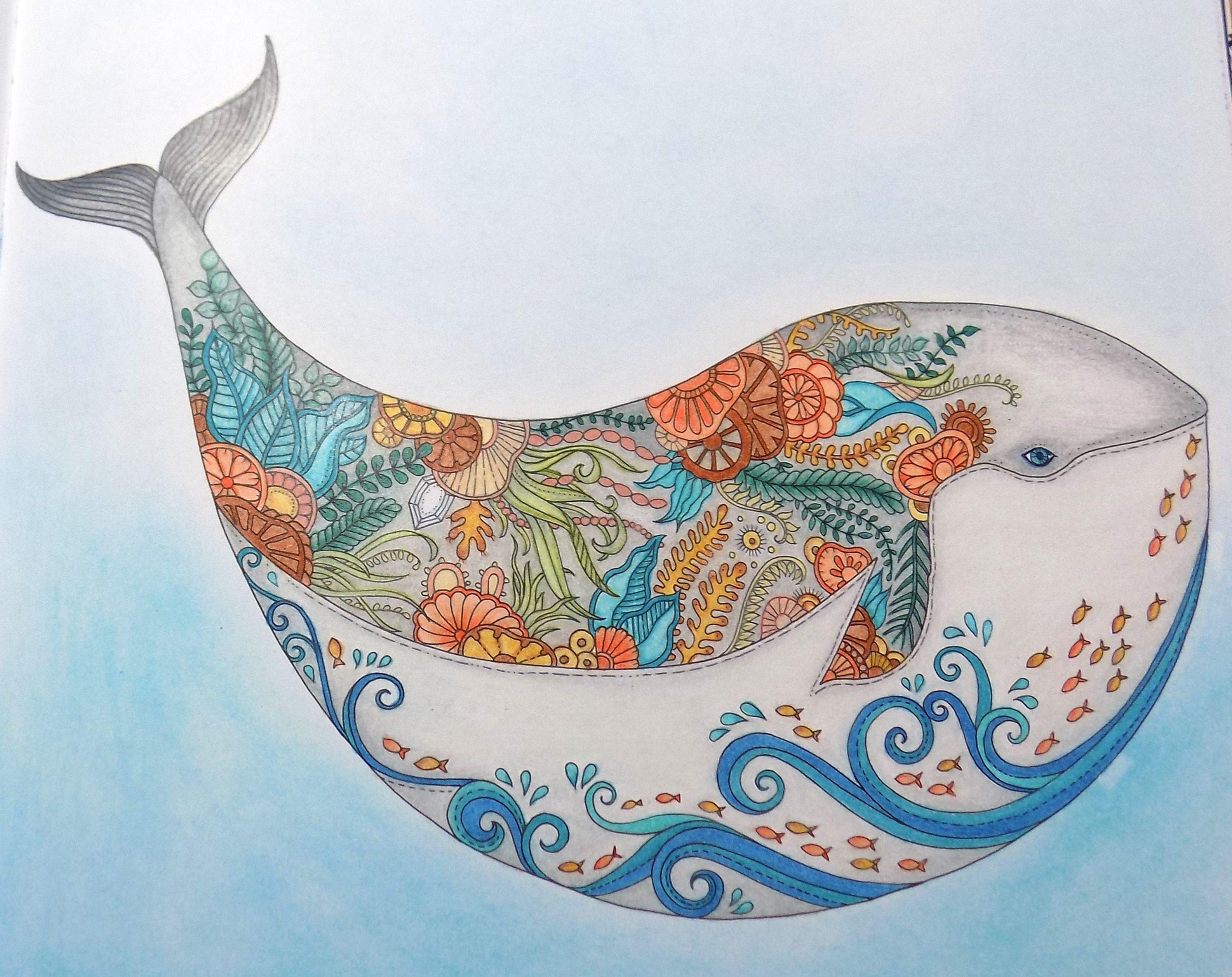 lost ocean by johanna basford colored by linda swirski my