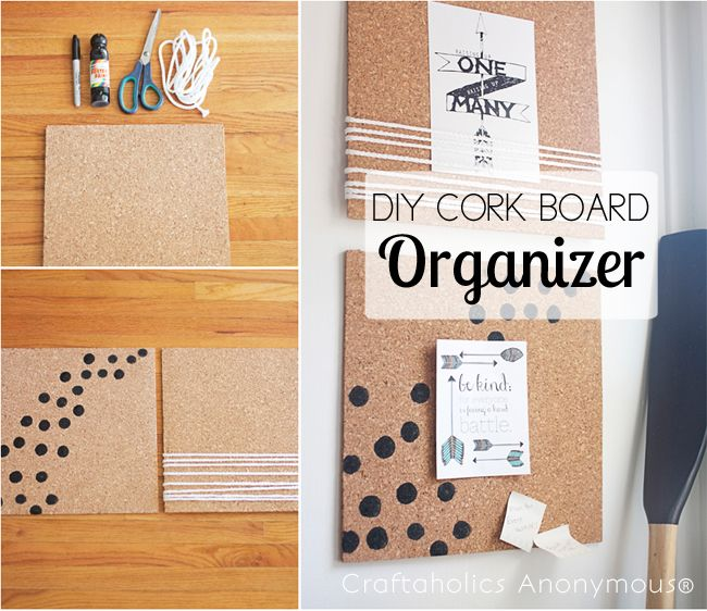 Craftaholics Anonymous® | DIY Cork Board Frame And Organizer