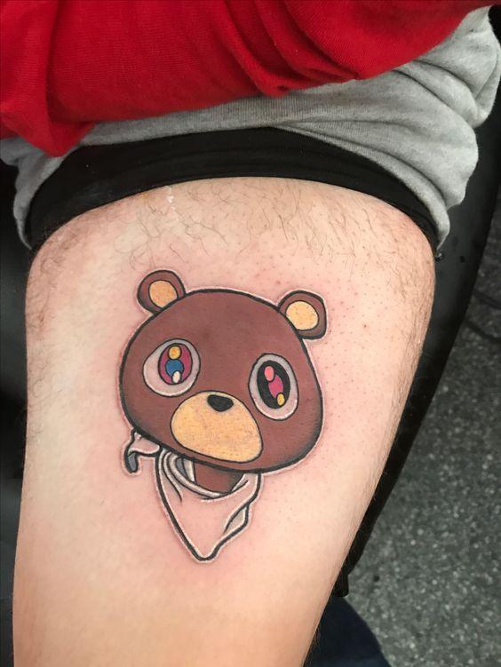 Teddy Bear Tattoos Topstoryfeed Teddy Bear Tattoos Bear Tattoos Kanye Tattoo