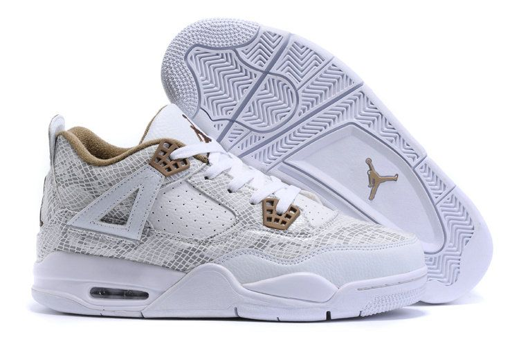 2018 Where To Buy Air Jordan 4 IV Pinnacle Snakeskin White Gold Size Euro 46 e411c5462