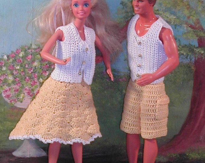 Crochet Fashion Doll Ken & Barbie Pattern- #127 EUROPEAN DANCERS ...