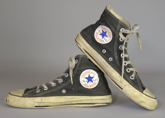 74ce1ae9348716 80s Converse Made In USA Black Chuck Taylor High Top Converse Allstars