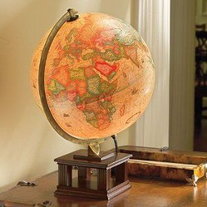 $59.50 Frank Lloyd Wright Illuminated Desk Globe - Frontgate. I'm really into globes and I need more light in my house. I don't know if I can muster up the cash for this purchase though.