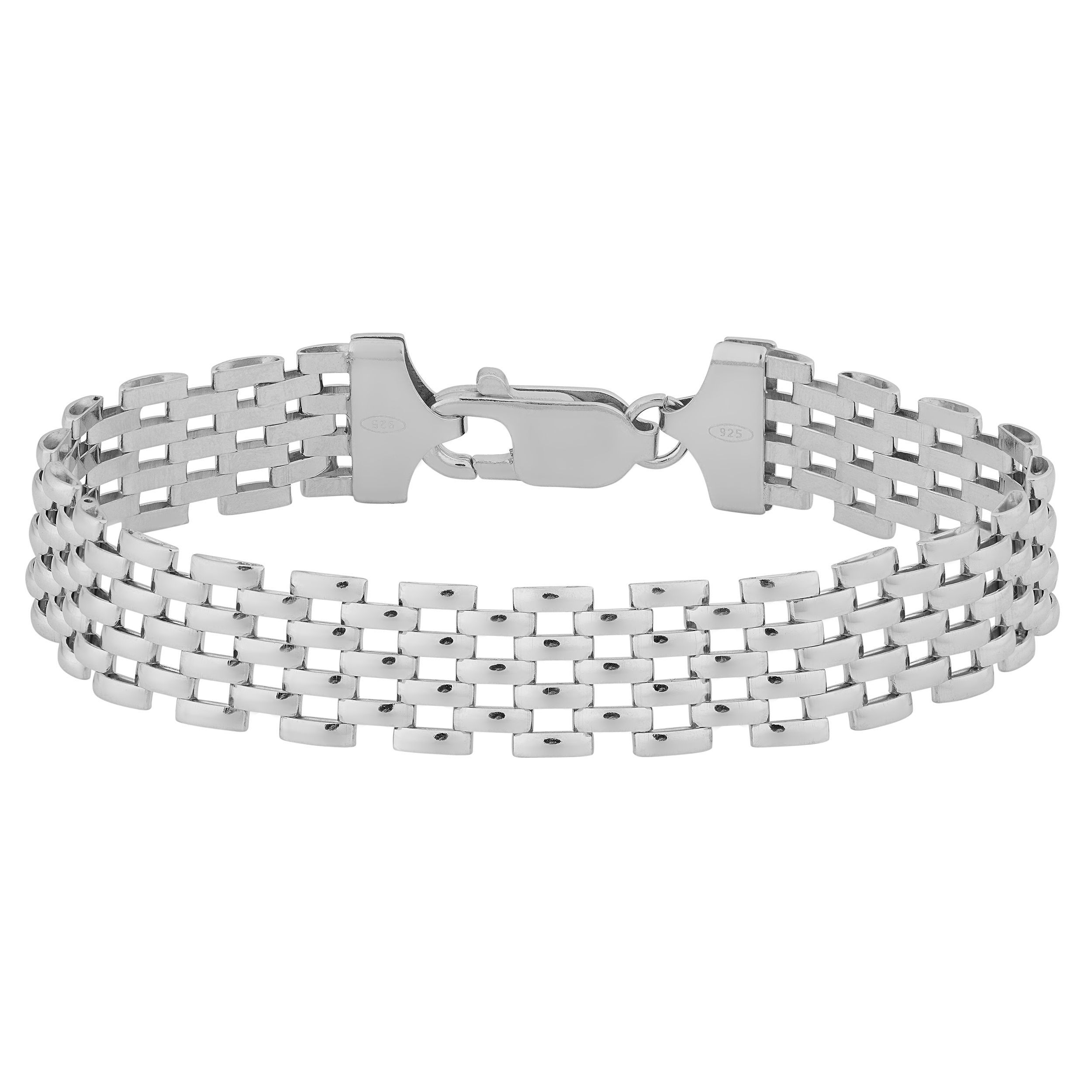 Argento Italia Sterling Sharp Panther Bracelet