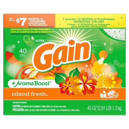 Gain Ultra Aromaboost Powder Laundry Detergent Island Fresh 40