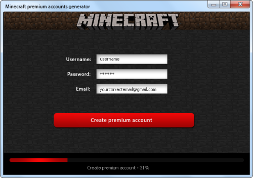 free minecraft accounts and passwords