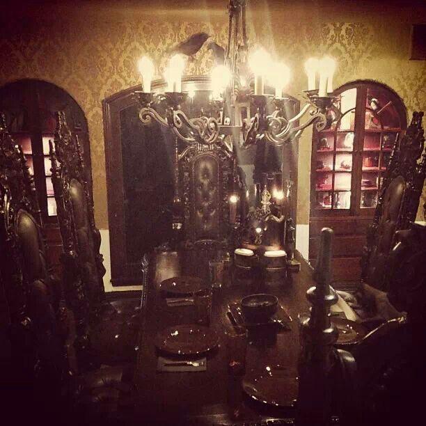 55b6023ddd80f Kat von D's dining room. Gothic dinner time. | House! | Kat von d ...