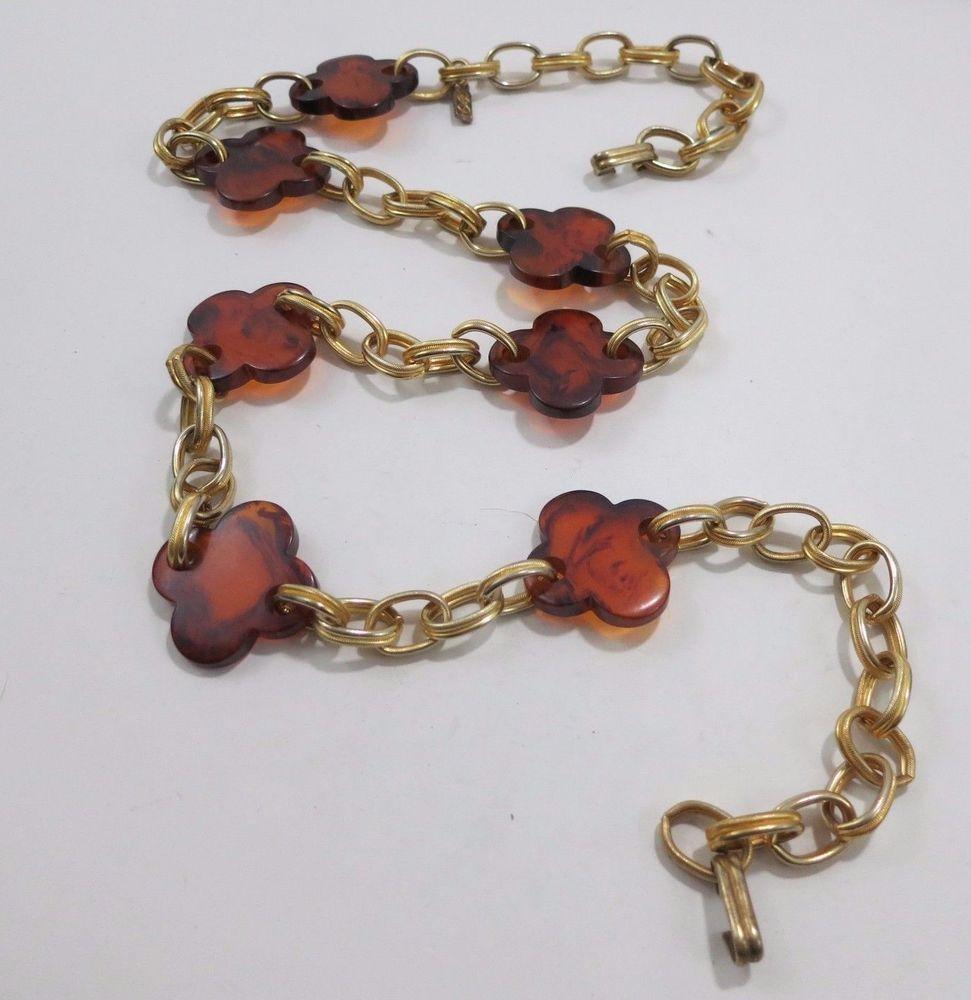 Saint Laurent Rare 1970s Yves Saint Laurent Gold Meadillion Ysl Vintage Chain Belt Or Necklace W78lM