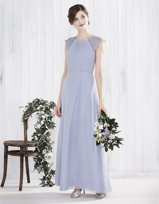 Monsoon bridal 2016 bridesmaid bluebell maxi dress for Purple maxi dresses for weddings