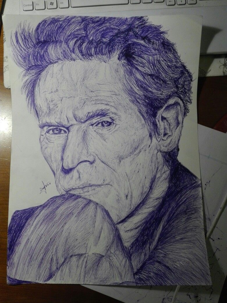#2 drawing of Willem Dafoe made by me from the collection #willemdafoe portraits   #myart #myfavouriteactor