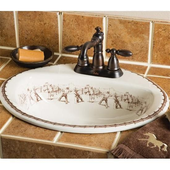 Cowboy Life Sink With Images Western Decor Western Home Decor Southwestern Home Decor