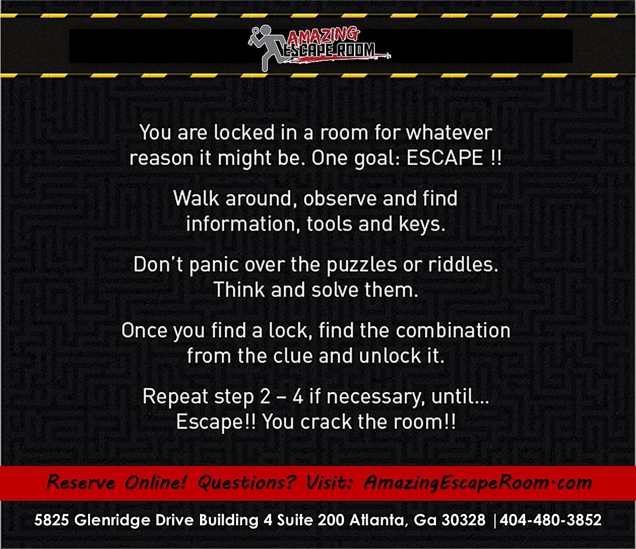 Live Escape Game Rules Room Book Escape Room Escape Game