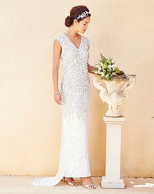 Wedding Dresses Available On The High Street Or Online Joanna Hope Sequin Maxi Dress J D Williams