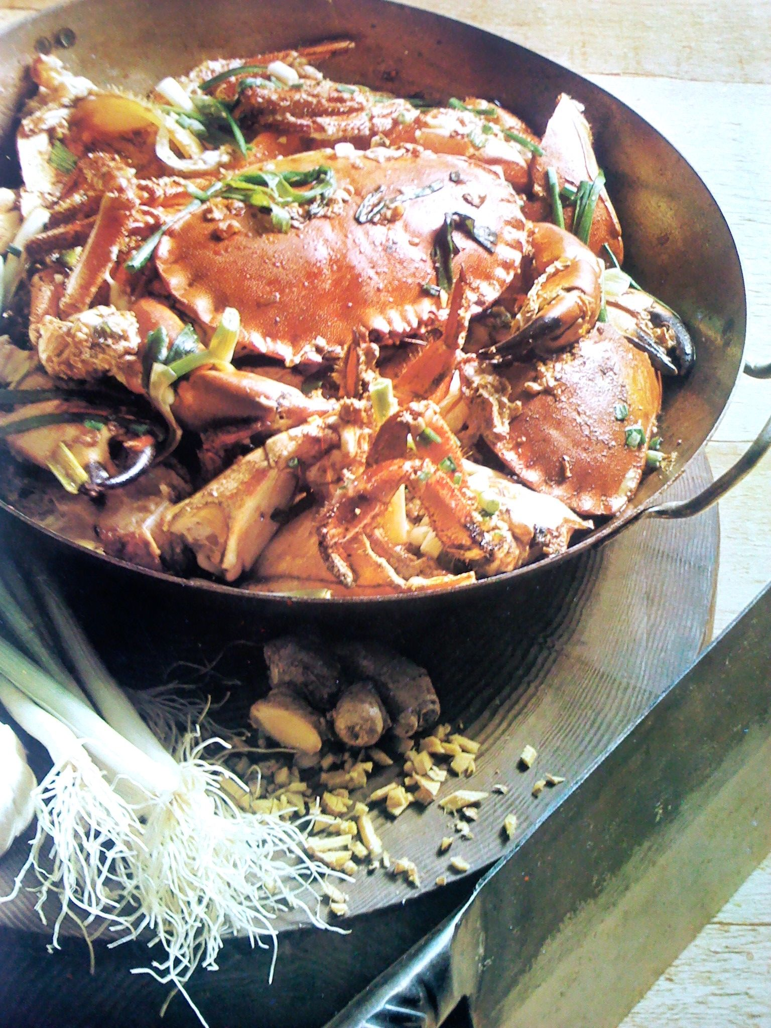 Thai Crab in ginger and soy sauce