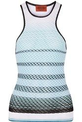 Missoni Stretch Textured Knit Tank Blue