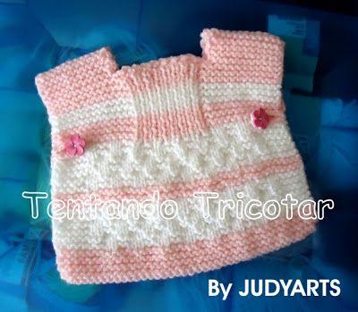 Recebi da minha amiga Judyarts diversas peças tricotadas por ela para fazer parte das doações para bebês. Cada uma mais linda que a outra. ...
