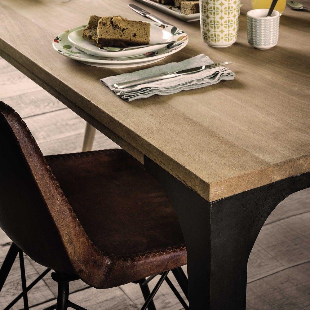 Tavolo per sala da pranzo in massello di mango 180 cm ...