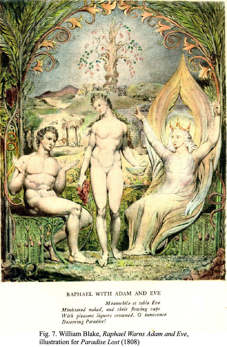 Raphael Warns Adam And Eve By William Blake 1808 Http En Wikipedia Org Wiki William Blake S Illustrations William Blake Art William Blake Christian Art