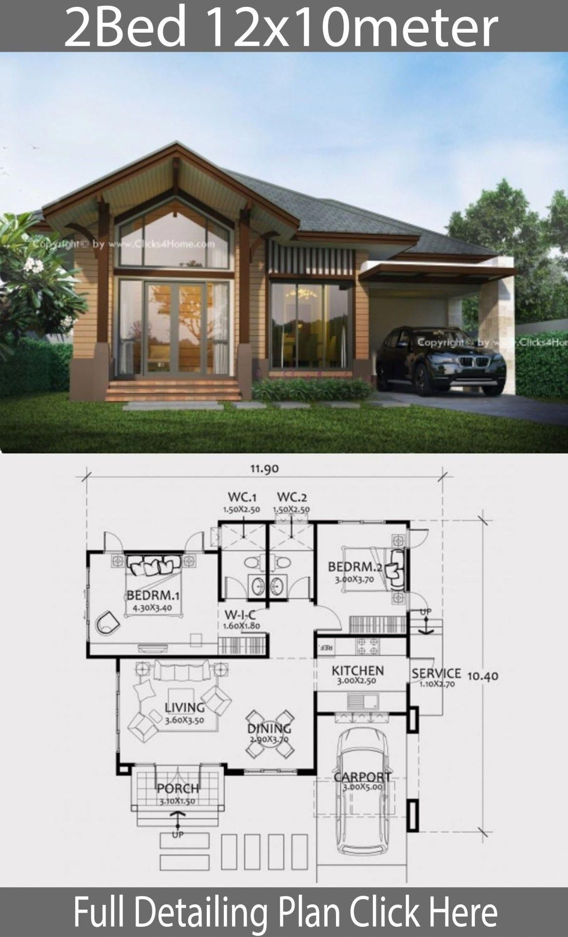 Home Design Plan 12x10m With 2 Bedrooms Home Design With Plansearch Luxuryhomeinterior Beautiful House Plans Modern House Plans Home Design Plan