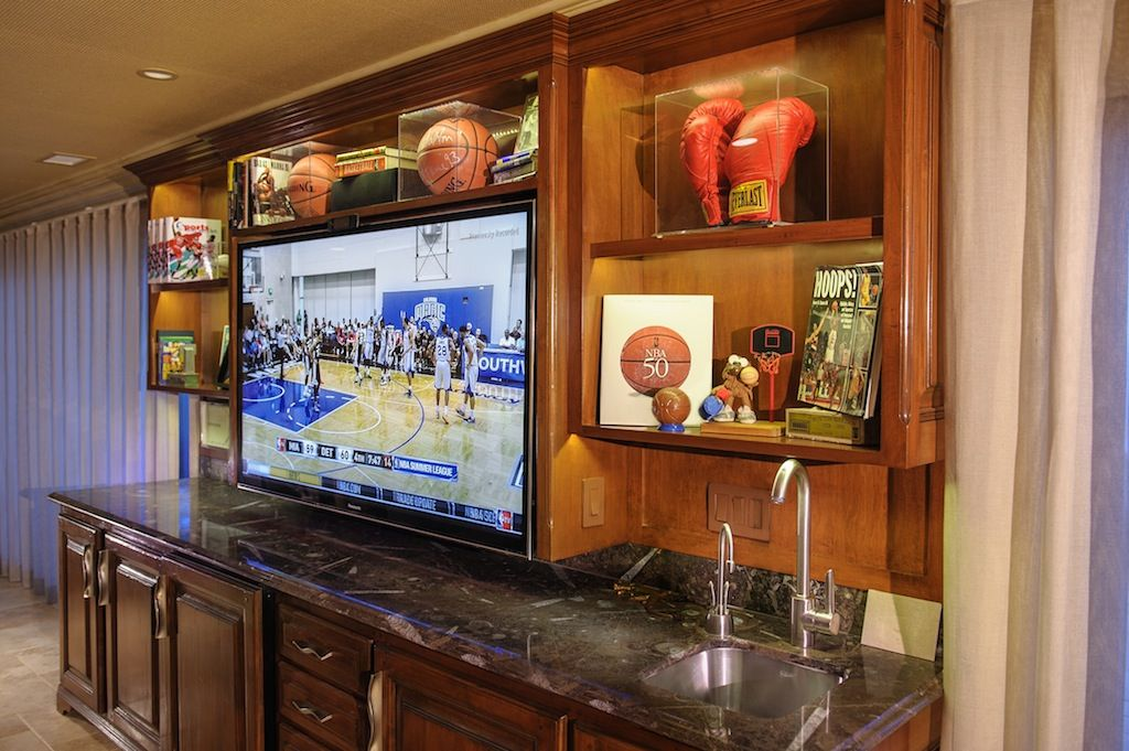 Digitainment Installed This Tv In A Wet Bar Awesome Wetbar Homes Hometheater Samsung