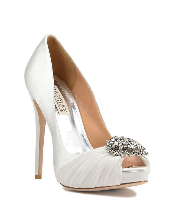 Womens Shoes Badgley Mischka Pettal White Satin