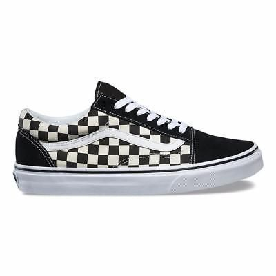 d990525b464 Original Vans Old Skool Primary Check Black White VN0A38G1P0S Casual WOMEN