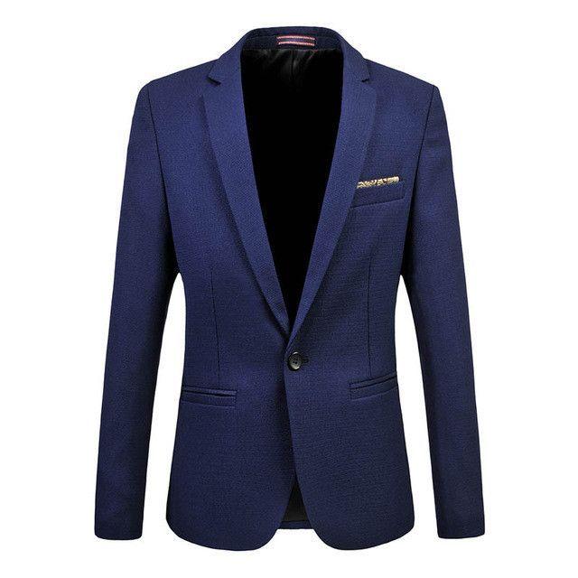 Fashion Men Corduroy Blazer Single Button Solid Slim Suit Jacket Coat Plus Size