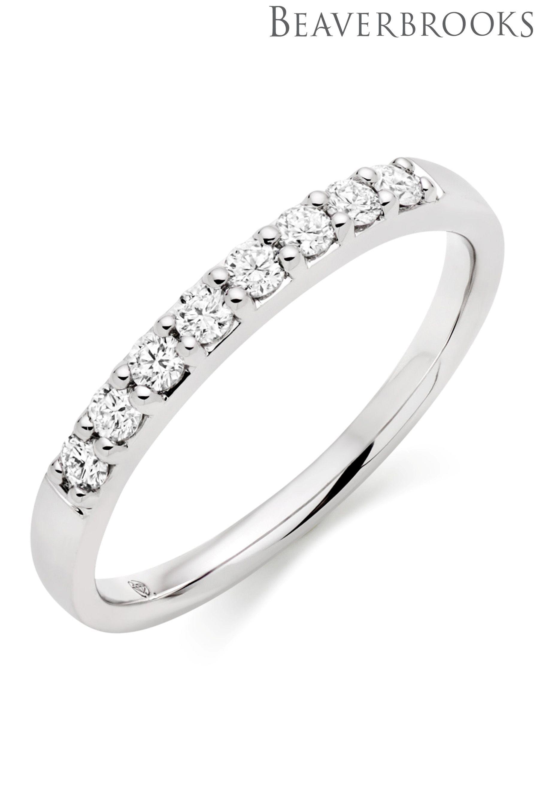 Womens Beaverbrooks Platinum Wedding Ring Silver