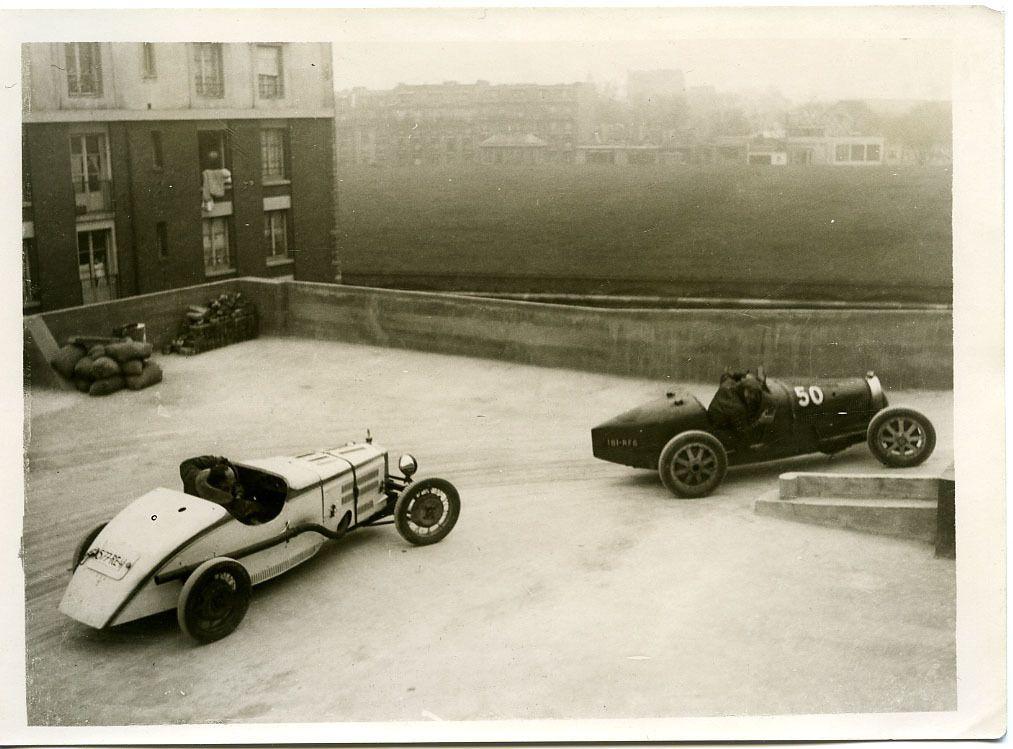 Bugatti and Hausdach - Garage Banville hillclimb - Paris, 1927