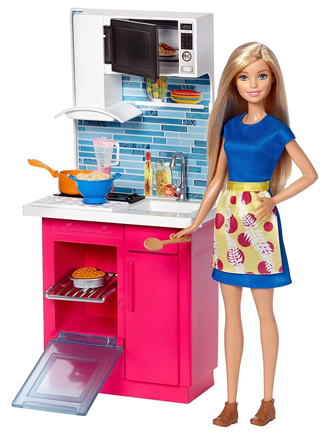 Barbie Kitchen And Doll Playsets Amazon Canada Barbie Kitchen