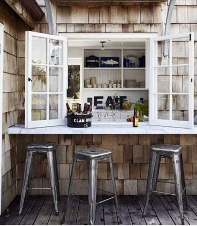 Bringing The Outdoors In Kitchen Dining Great Room: Pass Through Patio Window