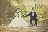 Love the formality - Steampunk Bridal seen on Rock'n'Roll Bride - Chemistry Photography