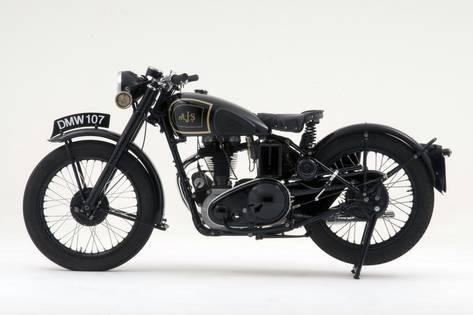 1946 Ajs 16m Photographic Print Art Com Brat Motorcycle Brat Bike Royal Enfield Accessories